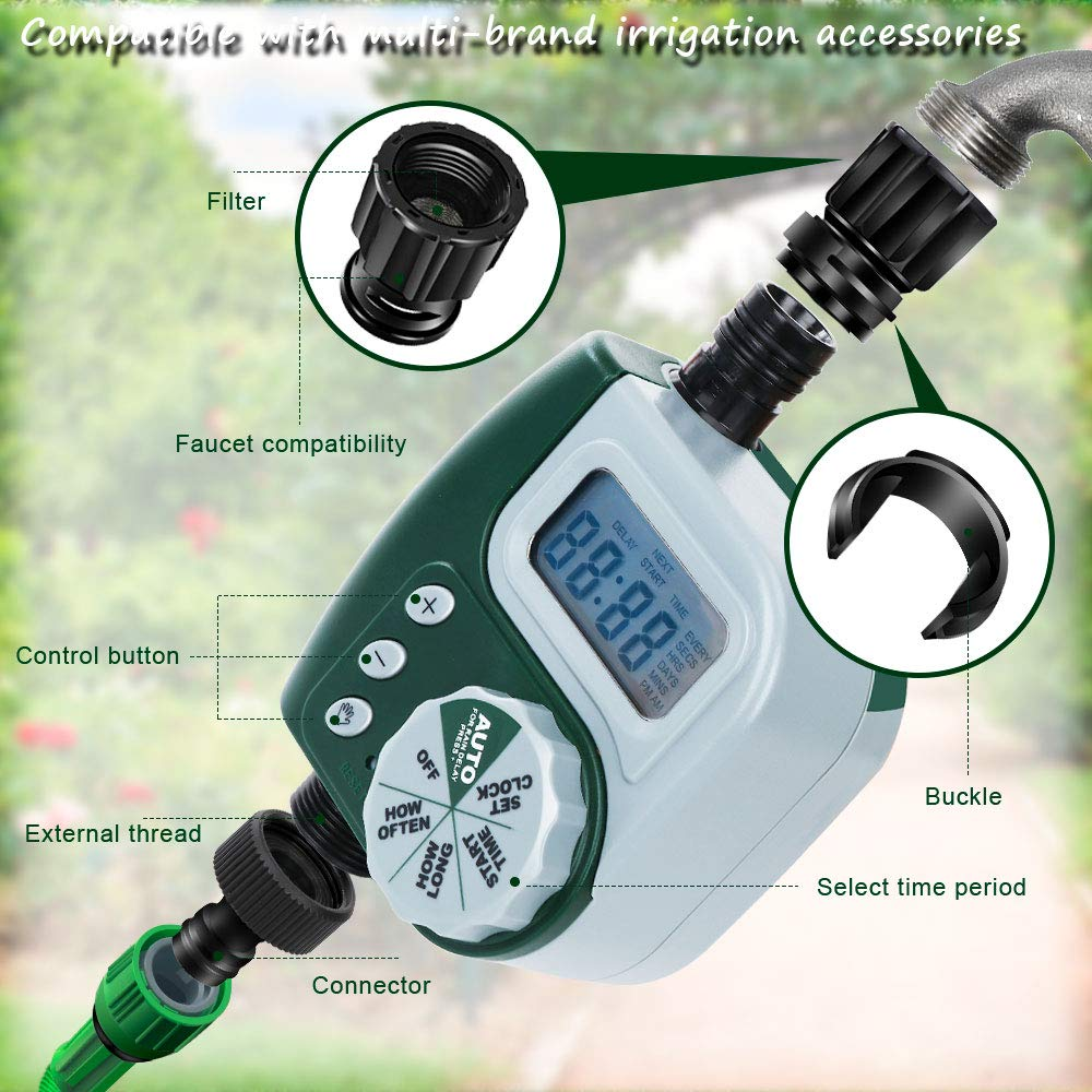 Automatic Electronic Garden Water Timers With Rotate Touch Design For Home 2