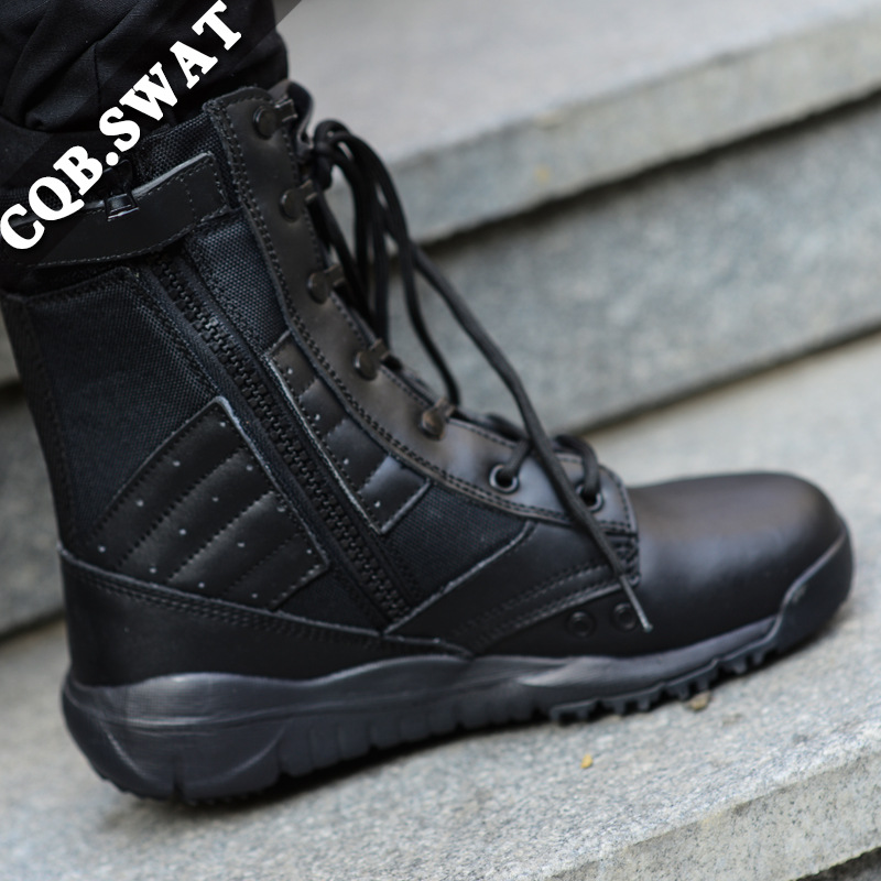 Ultra-Light Combat Boots CQB. Swat Wing Eagle Lightweight Combat Boots Shock Absorption Hight-top Outdoor Tactical Boots Combat