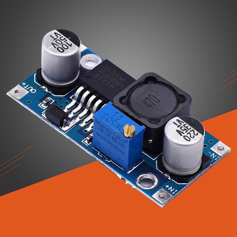 Equipamento bonde 43*21*14mm do módulo da fonte de alimentação do conversor xl6009 ajustável do aumento do módulo 3-32v 4a durável de DC-DC