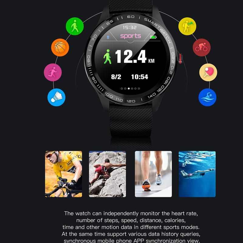 L9 EKG PPG Smart Watch Pria Bluetooth Jam Tangan T Smartwatch IP68 Tahan Air Heart Rate Tekanan Darah Reloj Tampilan Facebook
