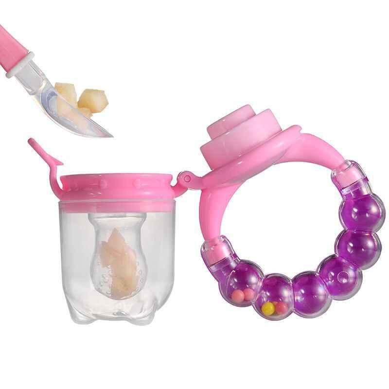 Mordedor para bebé de 1 Uds., novedoso chupete de seguridad para niños pequeños, juguete de dentición de frutas y verduras, chupete masticable, comida de frutas