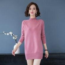 Woman Elegant Soft Pullover Sweater Half Collar Wool Knitted Tops Women Autumn Winter Warm Woolen Knitwear Red Purple Black