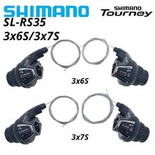Shimano tourney SL-RS35 revoshift bicicleta torção shifter alavanca 3*6s 3*7s 18s 21s bicicleta pente rs35 como rs31 rs36