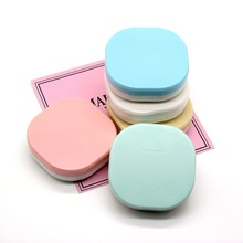 Portable Contact Lens Case With Mirror Solid Color Contact Lenses Box Eyes Contact Lens Container Lovely Travel Kit Box contact
