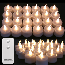 Flameless Candles Tealights Christmas-Decoration Remote-Control Flickering Birthday Battery-Powered