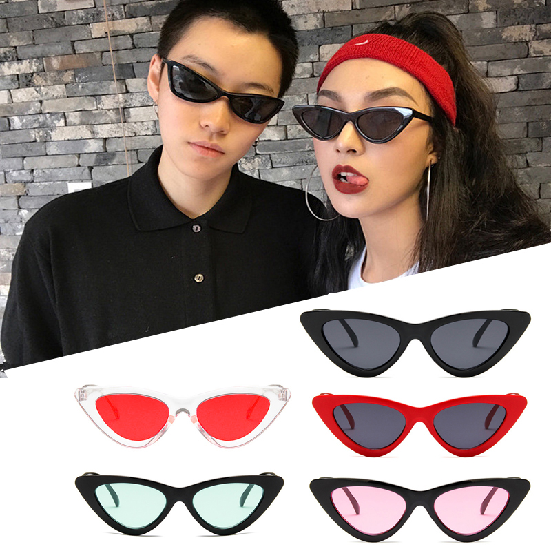 Triangle Cat Eye Sunglasses Female Ins Super Fire Hip Hop Korean Version Of The Tide Retro Harajuku Wind Glasses Net Red Sunglas