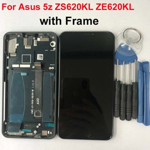 Image 2 - Original For Asus Zenfone 5 2018 Gamme ZE620KL LCD Display Touch Screen Digitizer Assembly Parts For ASUS 5z ZS620KL+Frame