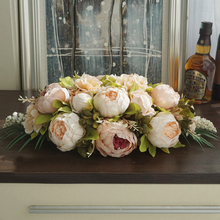 Flores de mesa de boda peonía vintage telón de fondo flores sala de reuniones decoración del hogar flores centros de mesa flores