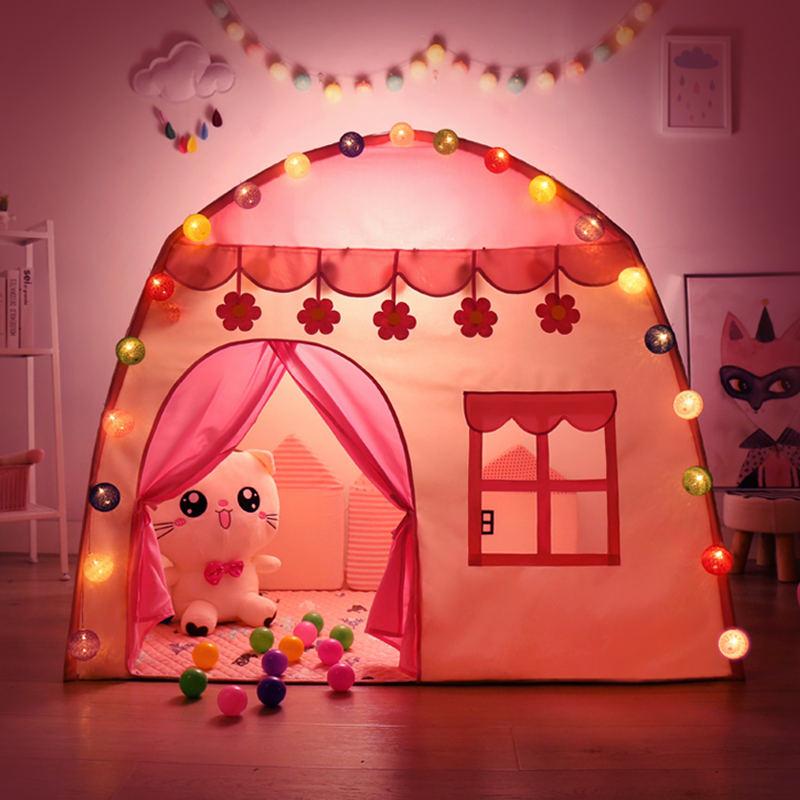 Jouer enfants tente enfants intérieur extérieur princesse château pliant Cubby jouets Enfant chambre maison enfants tente tipi Playhouse