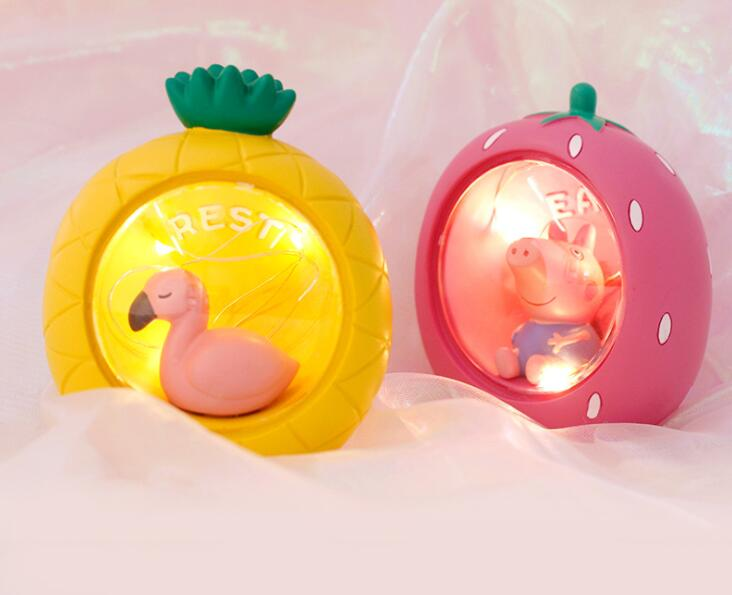 Nightlight Fruit Lovely Cartoon Animal Creative Resin Home Crafts Hanging Decoration