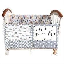Муслиновая кровать подвесная сумка для хранения детская кроватка кровать Брендовая детская хлопковая кроватка Органайзер 60*50 см игрушка подгузник карман для кроватки постельный комплект