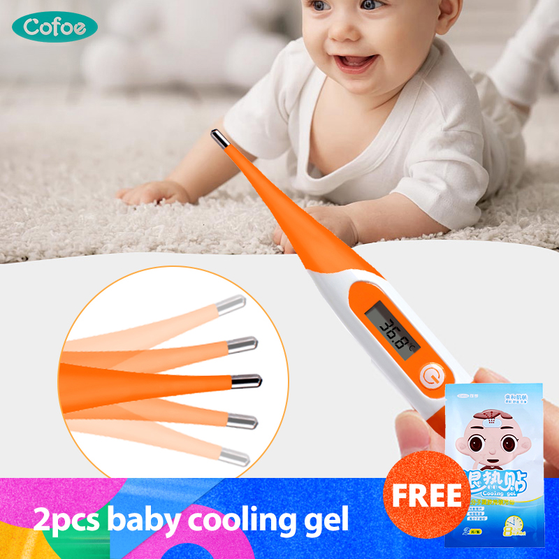 Cofoe Digital Electronic Thermometer Soft Type Body Temperature Ovulation Tester Measurement Baby Thermometers Medical Equipment