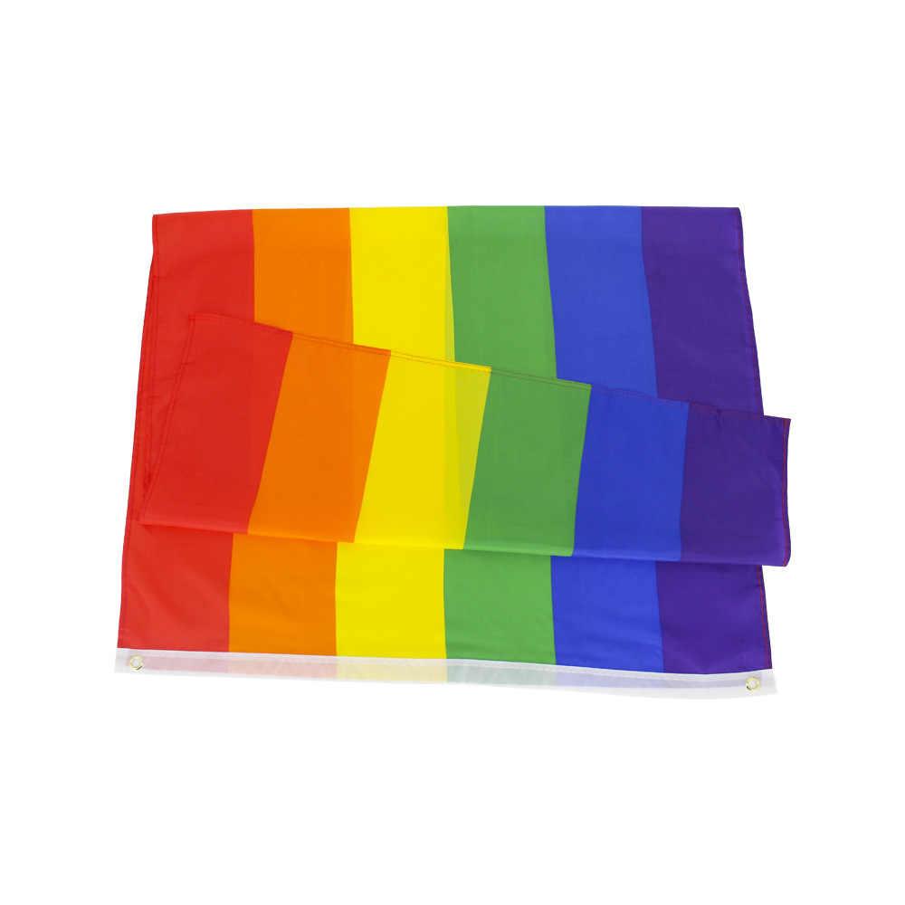 90x150cm homoseksualna filadelfia Philly Gay Pride tęczowe flagi