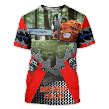 Tessffel Worker instrument Tools Chainsaw Harajuku Tracksuit New Fashion 3DPrint Unisex Shorts sleeves T-shirts Mens/Womens s-5 2