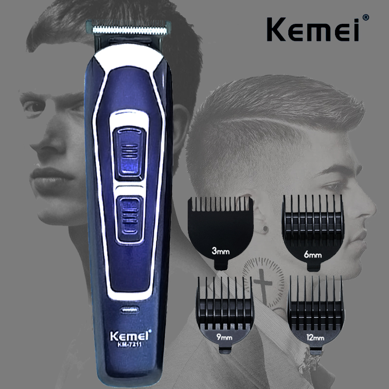 Kemei Electric Hair Clipper Rechargeable Low Noise Professional Hair Trimmer Men's Hair Cutting Beard Trimmer Shaving Machine 40