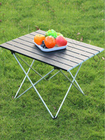 Bearing 20kg weight super light aluminium detachable portable outdoor picnic carry away strong compact table