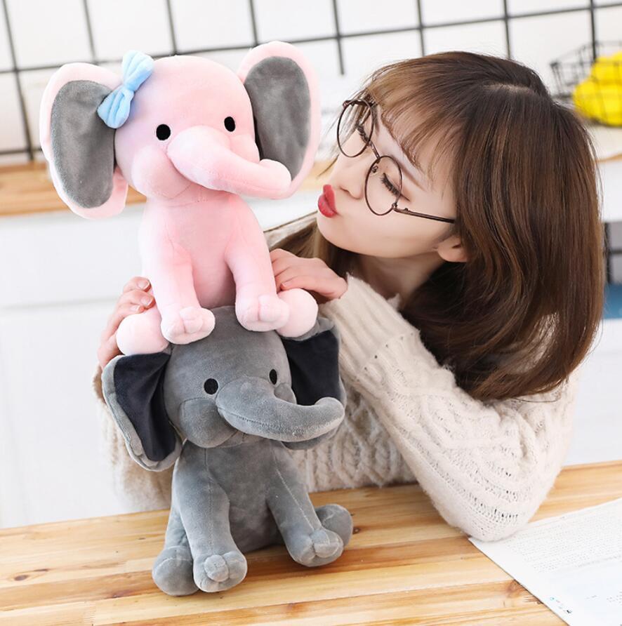 Peluche éléphant toute douce rose Peluche Éléphant Peluche Animaux 87aa0330980ddad2f9e66f: 25cm