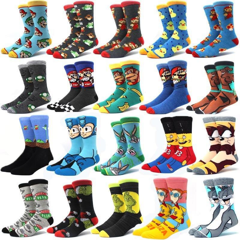 Носки выше колена с шалями для женщин и мужчин, носки для ролевых игр с мультяшным рисунком быка и комикса, носки для брата, повседневные нос...
