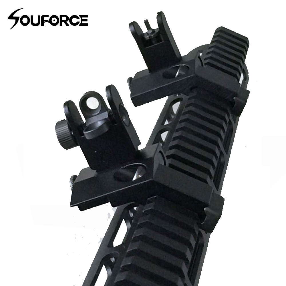 US 45 Degree Off Front Rear Set Flip Up Back Up Side Iron Sight Fit 20mm Rail