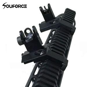 Image 1 - US 45 Degree Off Front Rear Set Flip Up Back Up Side Iron Sight Fit 20mm Rail
