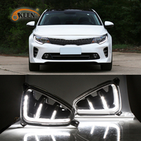 2PCS DRL For Kia K5 Optima 2016 2017 LED Daytime Running Light Daylight Signal fog lamp Styling Auto Drive lights Car Style