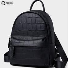 Black Genuine Leather Backpack girls COW leather backpacks Luxury soft school bag travel tote bags high quality Bolsas#SC222 цены онлайн