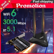 3000mbps Pci Express Dual Band Network Card Wifi 6 Adapter Intel Ax200 Bluetooth 5.1 Pci-E Card With Base For Desktop