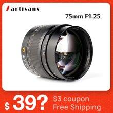 7artisans 75mm F1.25 Portrait Lens Camera Lente M mount for Leica Lens M M M240 M3 M5 M6 M7 M8 M9 M9P M10