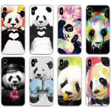 Soft Silicone Funny Panda Phone Case For Cubot P40 P30 X19 R11 J3 Pro P20 Power Nova Note S J5 J7 R15 Pro R19 Max 2 2019 Cover(China)