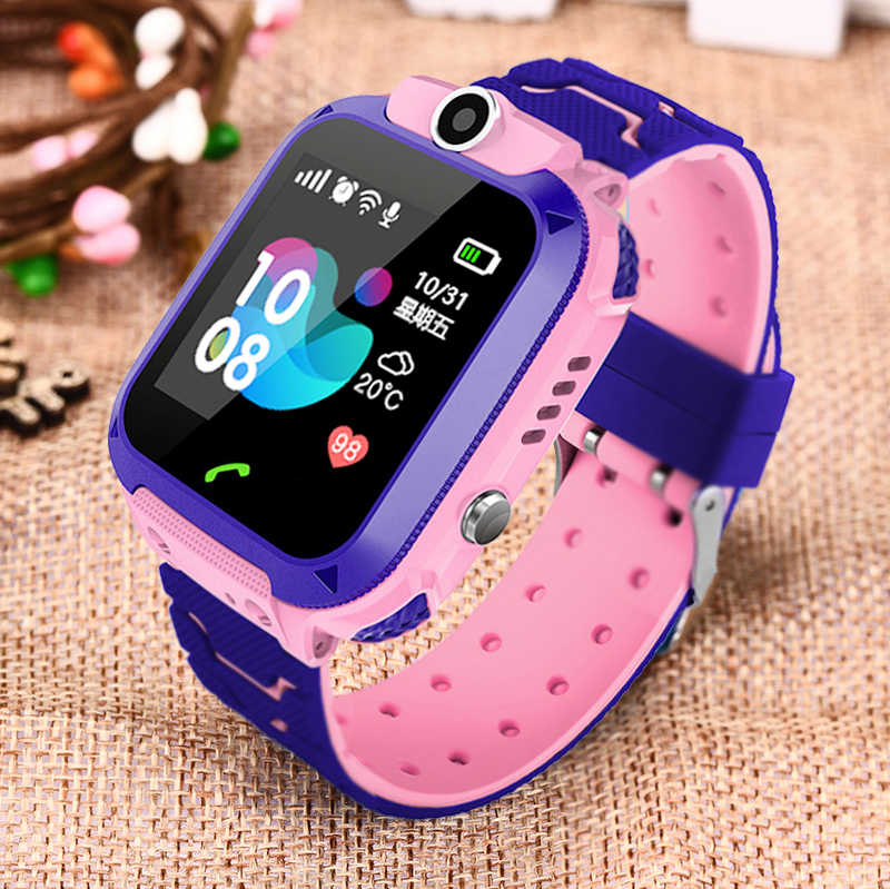 Anak Smart Watch untuk Anak Lbs Tahan Air Bayi Watch SOS Call Location Finder Locator Tracker Anti Hilang Monitor