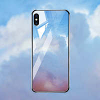silicone case Tempered Glass Case For apple iphone XS MAX XR X XS glass Cases Space Silicone Covers for Iphone 6 6s 7 8 plus back cover (3)