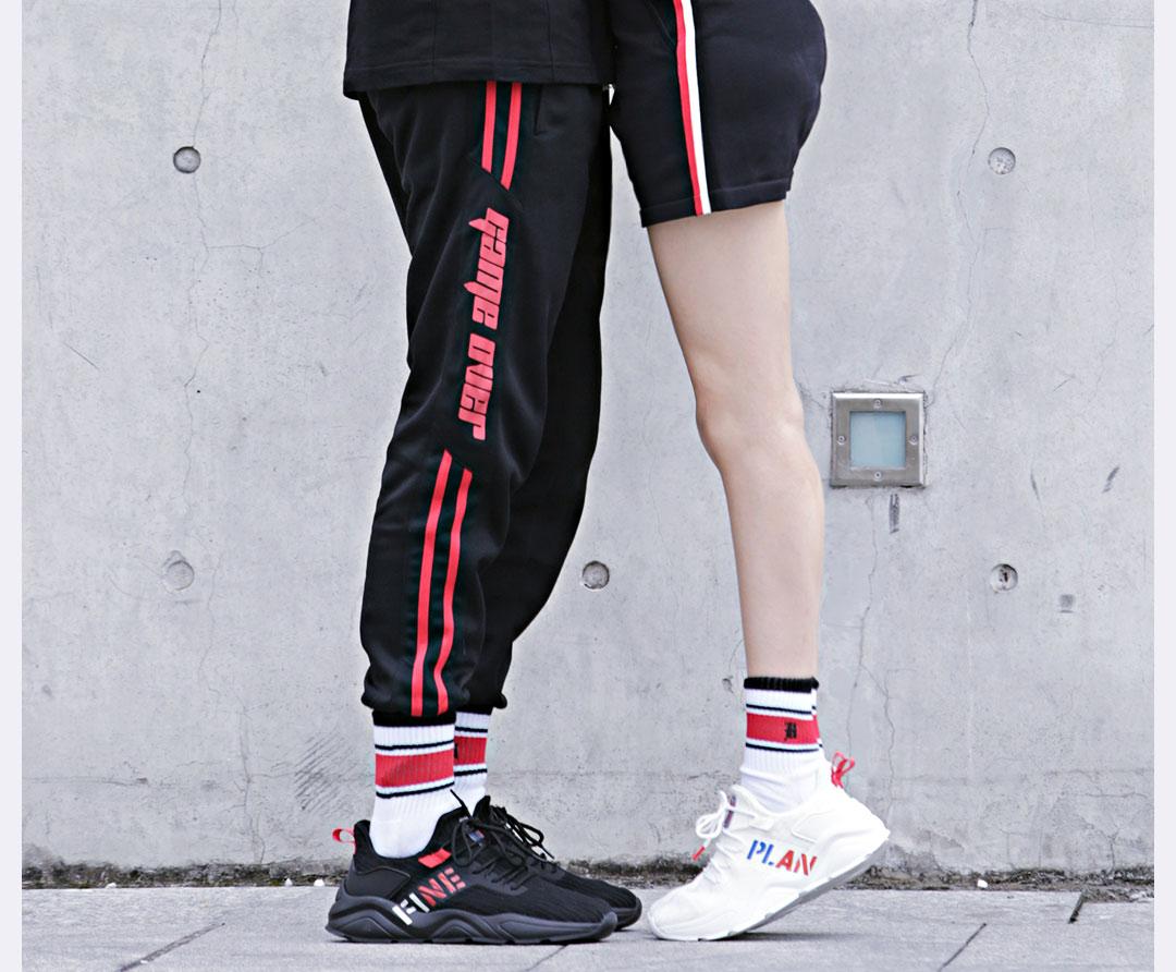 Sapatos masculinos de verão sapatos desportivos casal voar tecido de malha respirável running shoes - 3