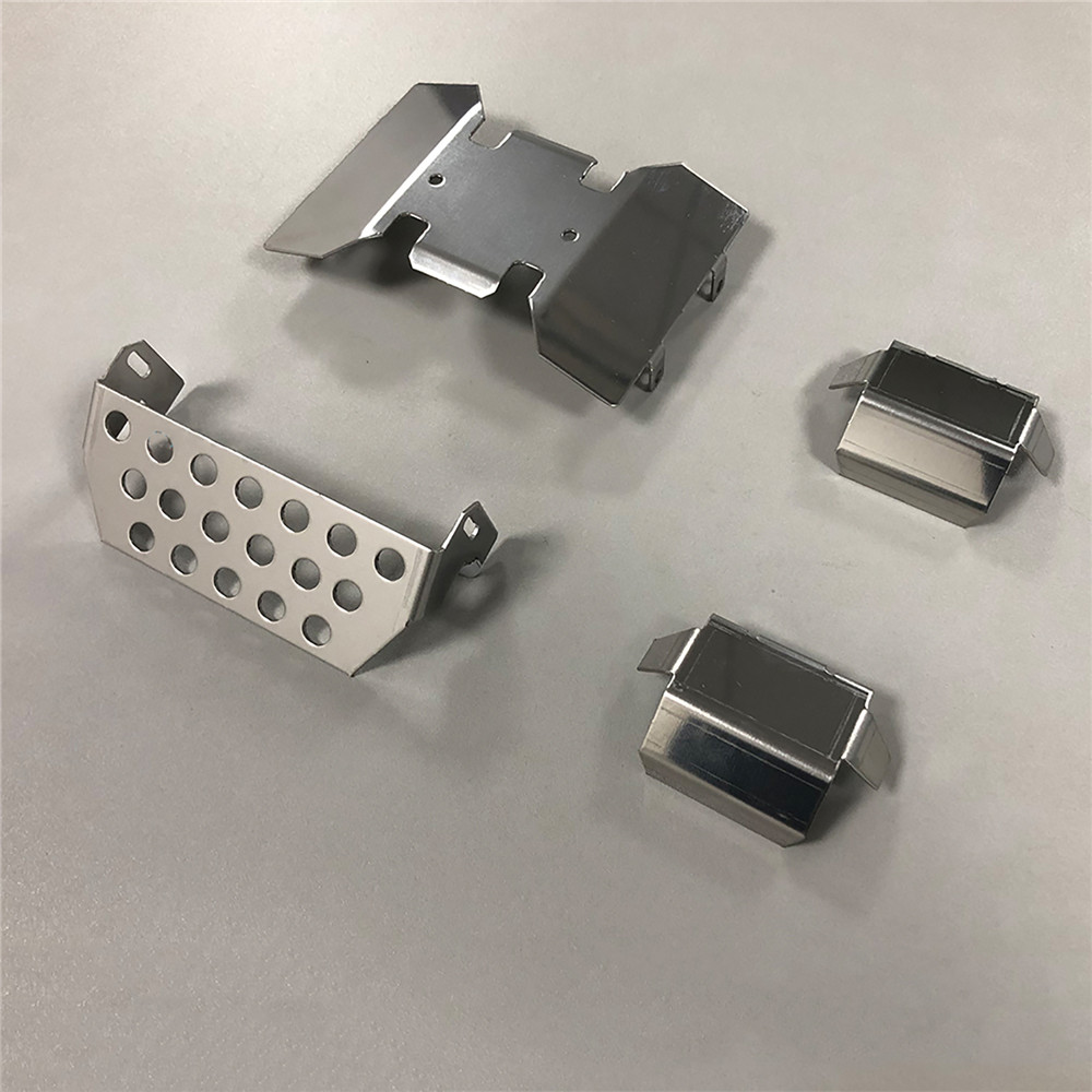 Metal Front Guard Axle Protective Plates Bottom Chassis Armor Set for Axial SCX10 III AXI03007 Jeep Wrangler RC Car Parts