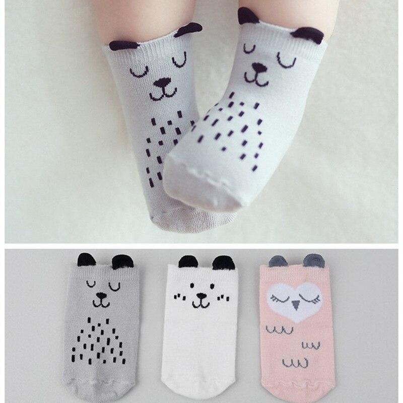 10 Colors Cotton Newborn Socks Cartoon Baby Socks No-slip Infant Socks