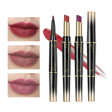Pudaier Double-end Lip Makeup Lipstick Long Lasting Pencil Waterproof Long Lasting Tint Sexy Red Lip Stick Beauty Matte Liner