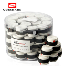 Queshark 60 pcs Coated Anti-slip Breathable Tennis Racket Sweat Bands Tapes Fishing Rods Badminton Racket Over Grip Wrap Tapes cheap CN(Origin) Overgrip EE142 black white colorful