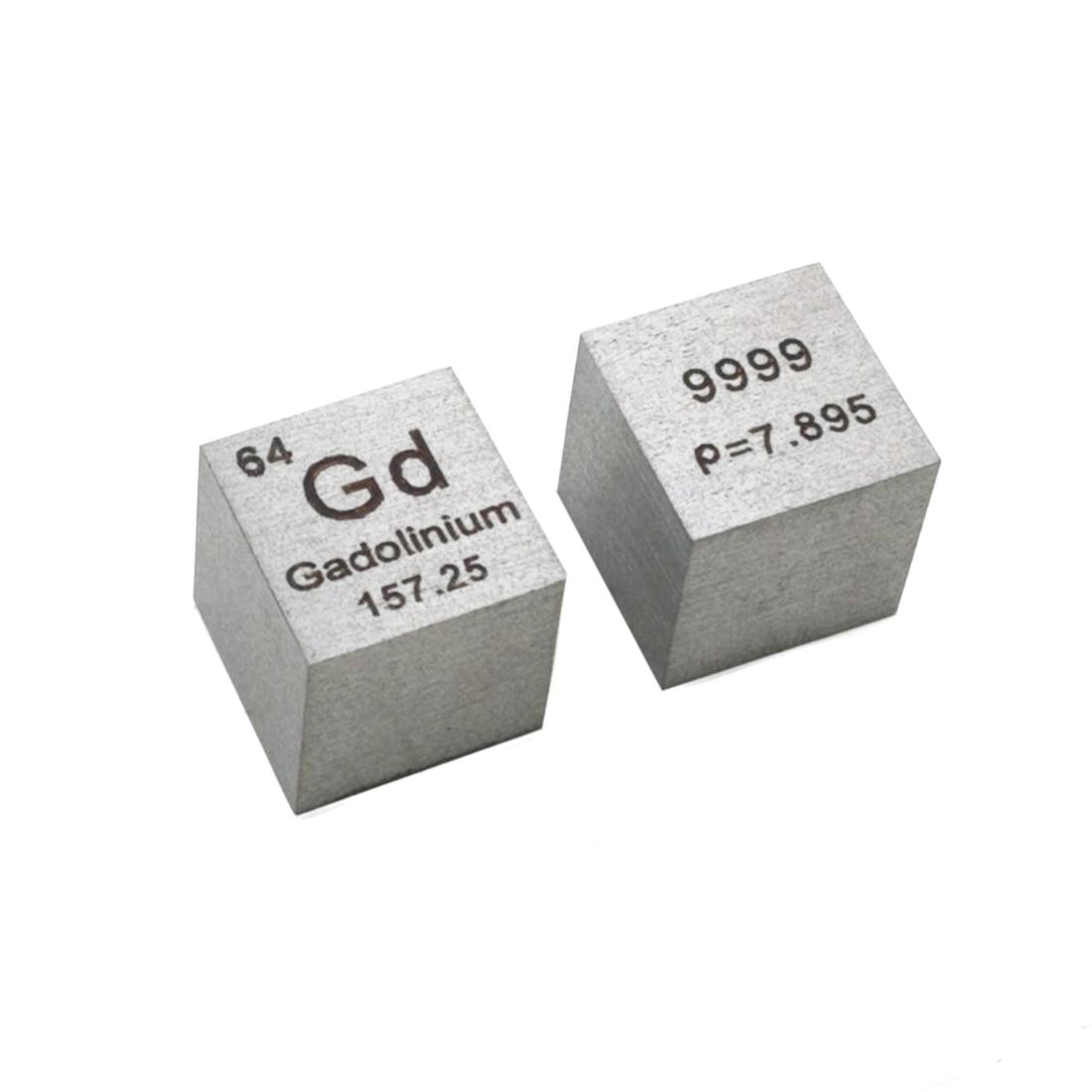 10 X 10 X 10mm Wiredrawing Metal Gadolinium Samarium  Yttrium Molybdenum Cube Rare Earth Elements Cube Periodic Elements Cube
