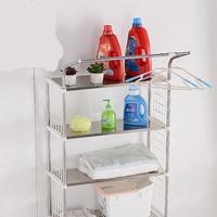 Roller flip top washing machine rack wave wheel stainless steel toilet collection toilet balcony shelf open