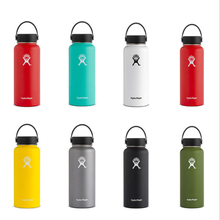 2019 New 32oz/40oz Hydro Vacuum Insulated Flask Stainless Steel Water Bottle Wide Mouth with Sport/Straw/Flex cap insulated cup