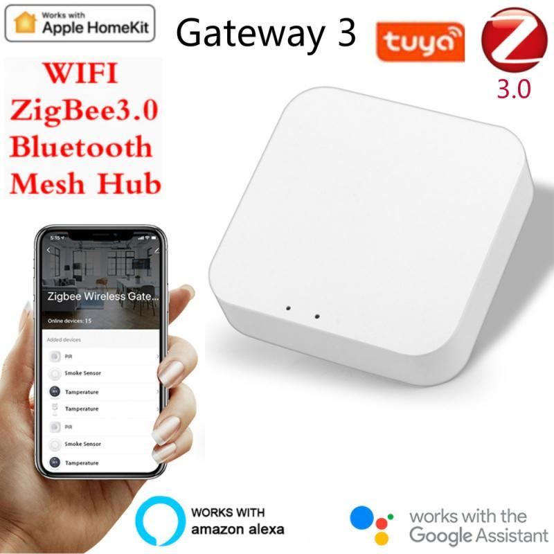 Lw vida inteligente multi-modo gateway zigbee wifi bluetooth malha hub casa inteligente hub trabalho com mi casa app apple homekit casa inteligente