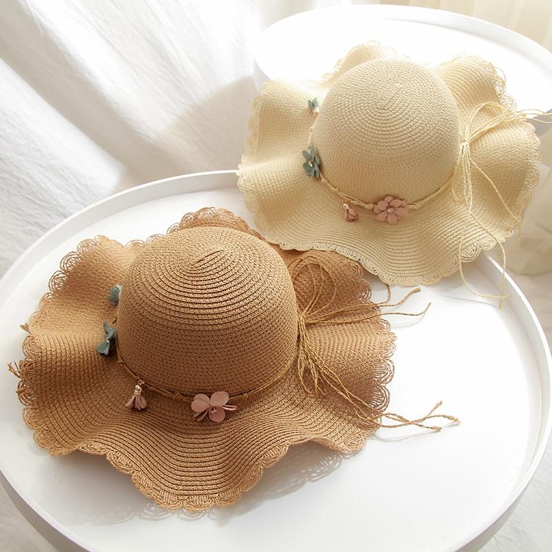 2020 Summer Women Straw Hats Female Casual Panama Hat Women Floral Beach Hats Caps Girls Vacation Sun Hats Chapeu Feminino Caps