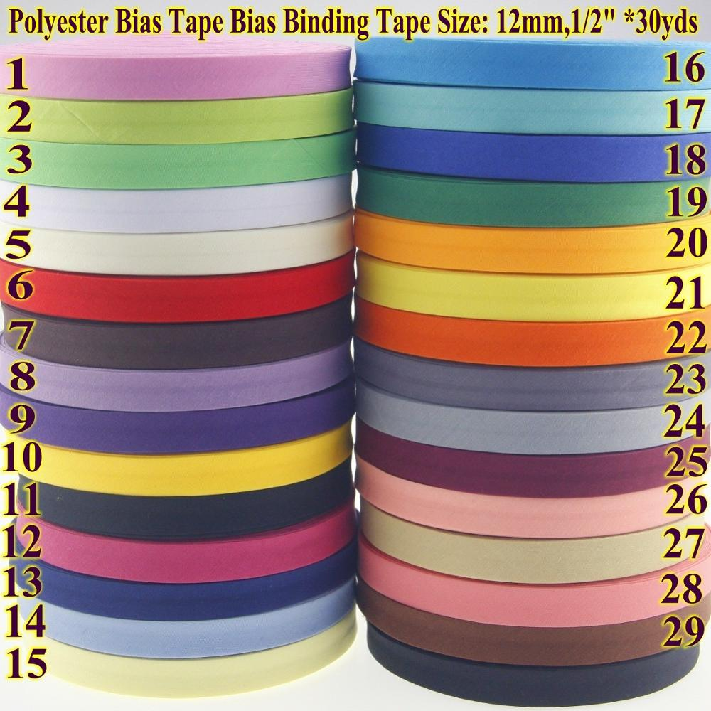 3m Roll 20mm Bias Binding Ribbon China Blue with White Flowers