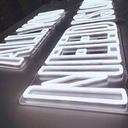 Commercio all'ingrosso su misura doppia linea flessibile al neon acrilico lettere fai da te neon segno lettere