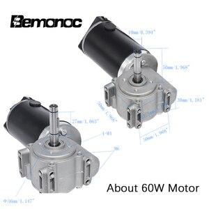 Image 2 - Bemooc Motor de alto par 24V DC 60/100W, engranaje de tornillo sin aleta, codificador inteligente, Motor de puerta eléctrico para hoteles, puerta automática, 220/250RPM