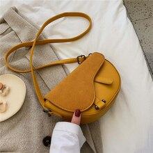 Vintage Female Matte Flap Saddle bag 2019 New High Quality PU Leather Womens Designer Handbag Travel Shoulder Messenger Bag