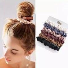 Chouchous pour cheveux pour femmes, 6 pièces, 5 bandes en caoutchouc, anneaux, pour cheveux