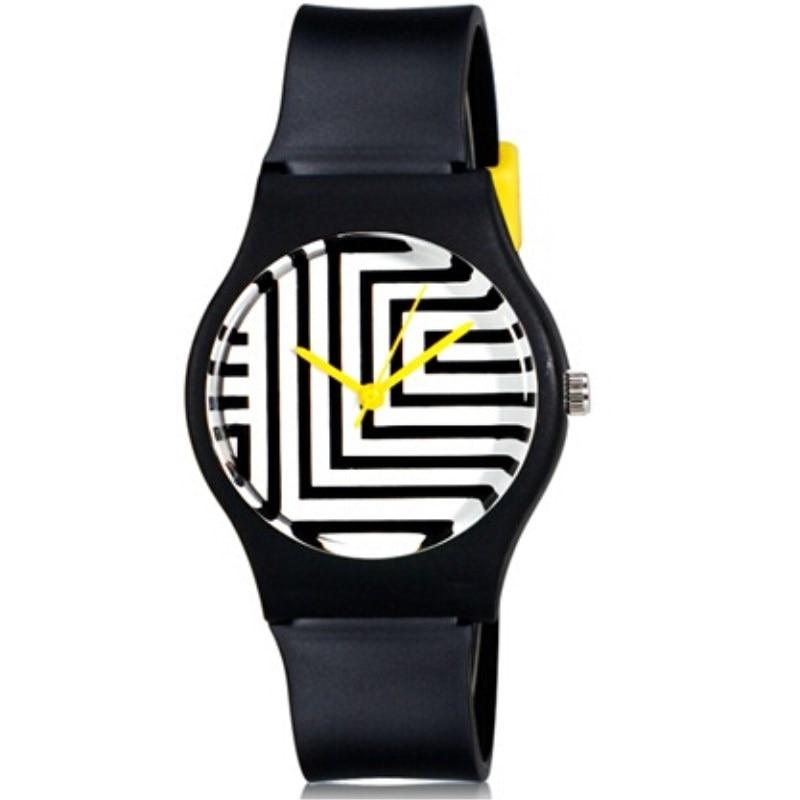 Willis For Mini Women's Silicone Watches Fashionable Casual Waterproof Watch Zebra Pattern Clock Wrist Watches Relogio Feminino