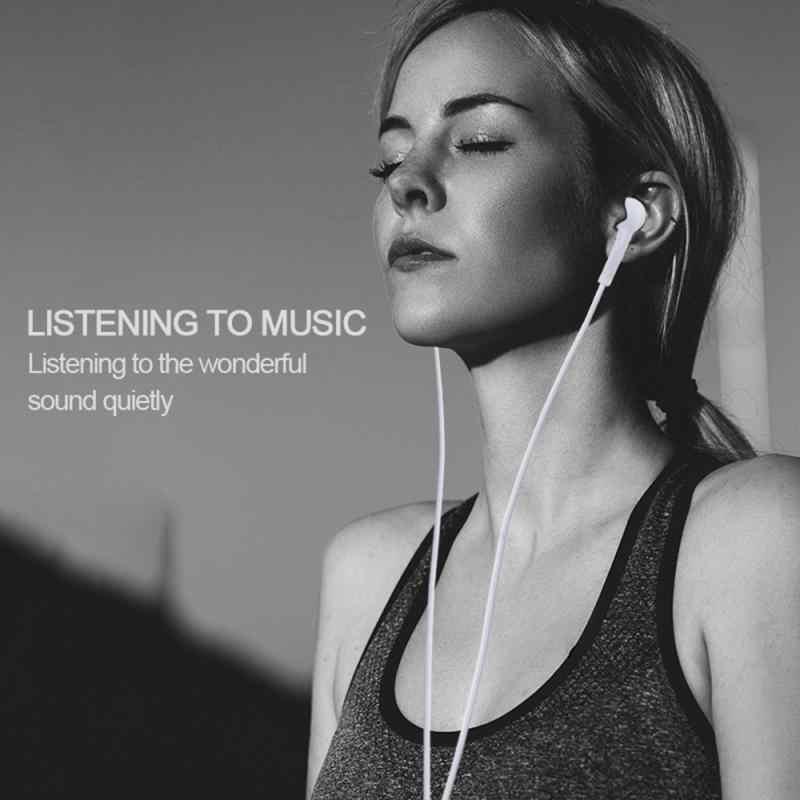 1 متر سماعة رأس سلكية سماعة أذن مع مايكروفون لسامسونج S4 أبيض أسود سماعة مكبر الصوت باس 3.5 مللي متر جاك ل هاتف ذكي MP3 MP4
