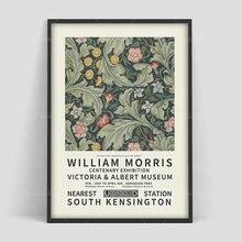 Плакат Вильям Моррис выставочный постер цветочный узор художественный