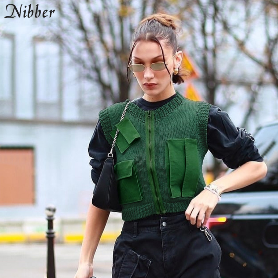 NIBBER Sleeveless O-neck Casual Shirt Women Retro Style Tops College Style Elegant Fashion Cool 2020 Spring Summer New Style